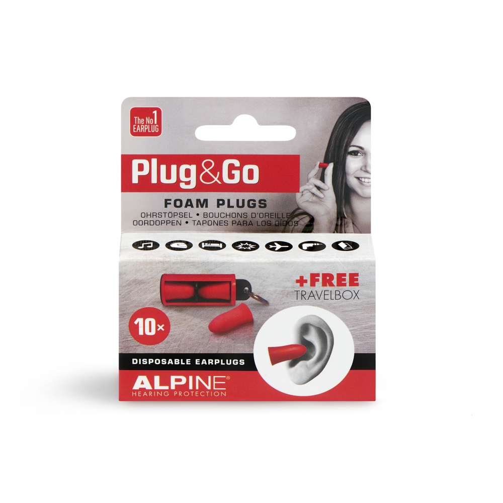 Plug&Go oordopjes - display 6 doosjes