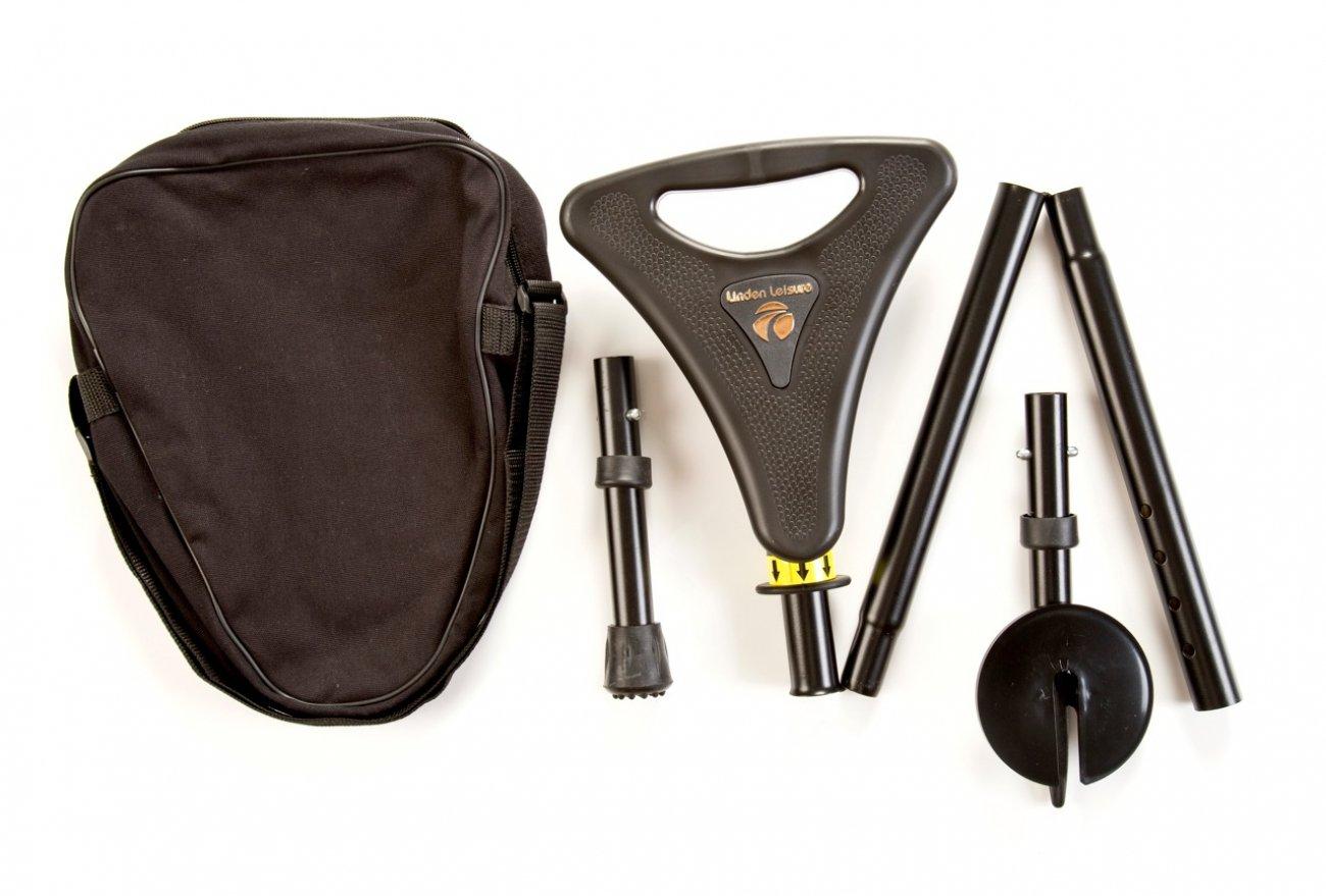 Opvouwbare wandelstok met zitje - Elite Seat Packaway - Zwart