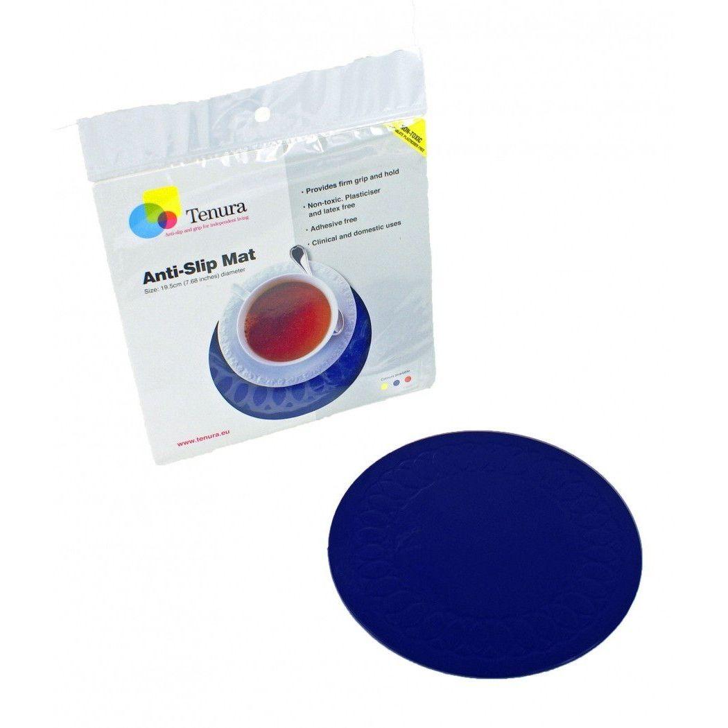Anti Slip Mat Kopen.Antislip Mat Rond Blauw Diameter 14 Cm