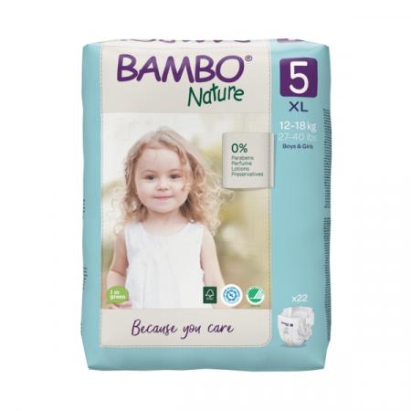 Abena Bambo Nature Junior 5 - 19 stuks - 12 tot 18 kg