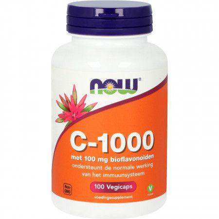 NOW C-1000 met 100 mg Bioflavonoïden Vegicaps - 100 st