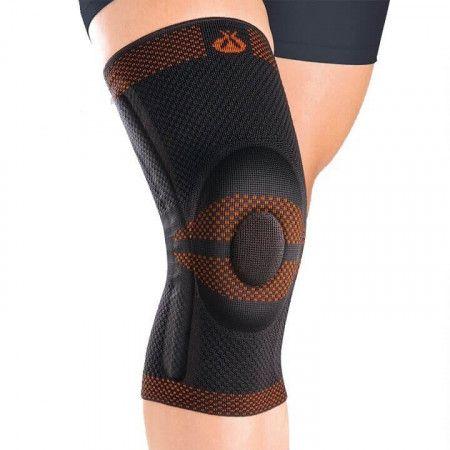 GM Knieband Rodisil met Siliconen Pad - Zwart Orliman