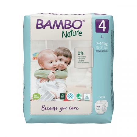 Abena Bambo Nature Maxi 4 - 24 Stuks - 7 tot 14 kg