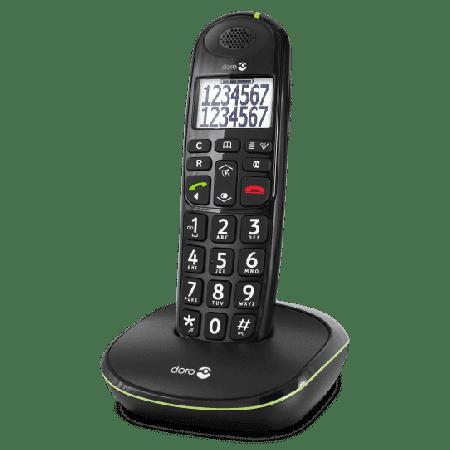 Doro PhoneEasy 110 Senioren Huistelefoon-Zwart