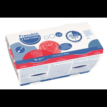 Fresubin 2kcal Creme - Bosaardbei - 4x125gr