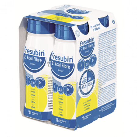 Fresubin 2 kcal Fibre Drink - Citroen - 4x200 ml