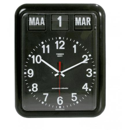 Klok met Datum - Zwart