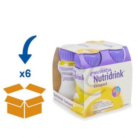 Nutridrink Compact Abrikoos   6 pakken van 4x125ml