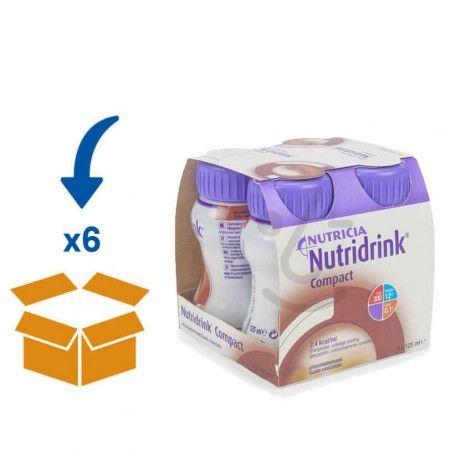 Nutridrink Compact Chocolade | 6 pakken van 4x125ml