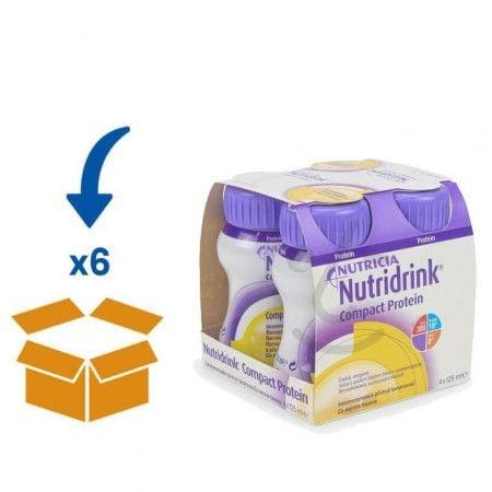 Nutridrink Compact Protein Banaan   6 pakken van 4x125ml