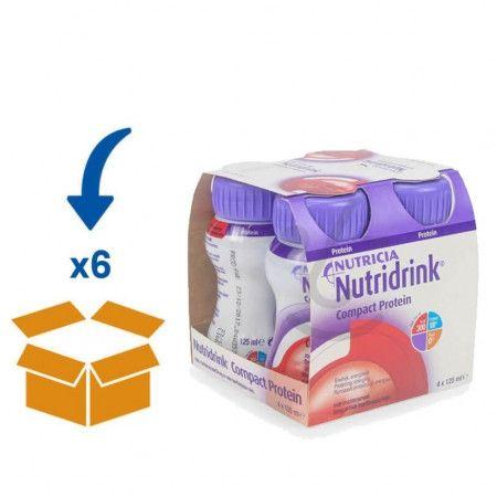Nutridrink Compact Protein Rode Vruchten | 6 pakken van 4x125ml