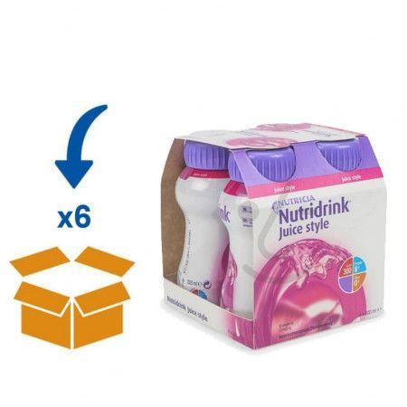 Nutridrink Juice Style Bosvruchten   6 pakken van 4x200ml
