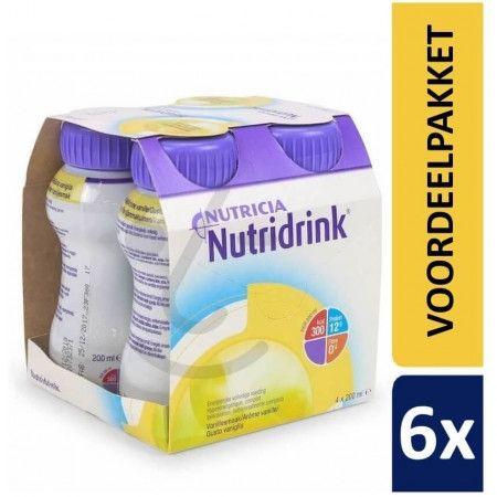 Nutridrink Protein Vanille | 6 pakken van 4x200ml