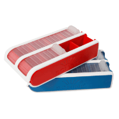 Schine Small Pill Box rood / blauw pillendoos