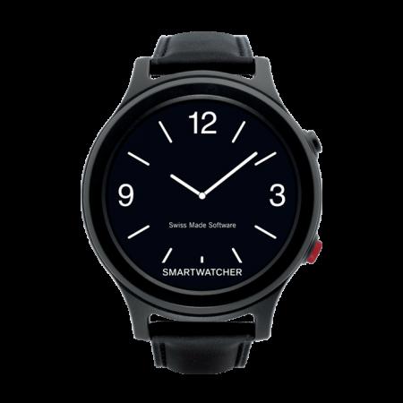SmartWatcher alarmhorloge horloge met alarmering Zwart