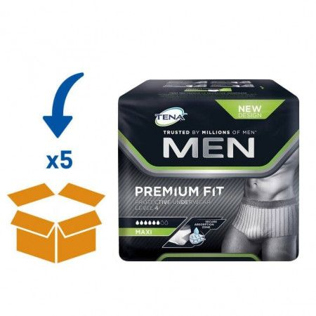 TENA Men Premium Fit Level 4 - M | 5 pakken van 12 stuks