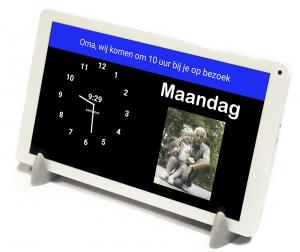 DayClock Plus 10 - Kalenderklok met agendafunctie