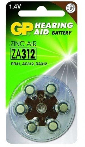 GP Zinc Air Hoorapparaat Batterijen ZA312