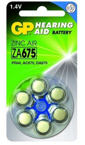 GP Zinc Air Hoorapparaat Batterijen ZA675