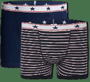 Incontinentie Boxershort Heren - Blauw / Gestreept Set