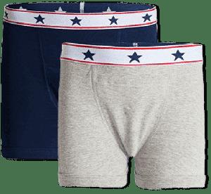 Incontinentie Boxershort Heren - Blauw / Grijs Set