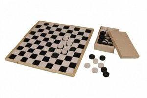 houten dambord