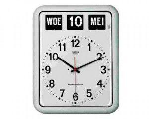 Klok met Datum - Wit