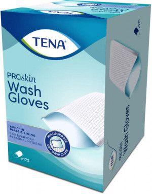 TENA ProSkin Wash Gloves met plastic binnenzijde