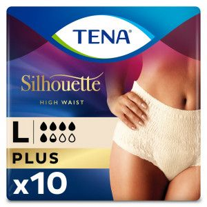 TENA Silhouette Plus - High Waist - Créme - Large - 10 stuks - Packshot