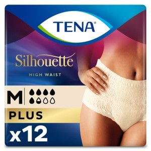 Tena Silhouette Plus High Waist - Créme -Medium-12 stuks - Packshot