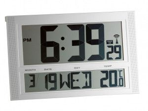 Radiografische Seniorenklok met temperatuur - XXL