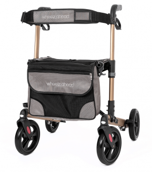 Track Rollator Champagne front