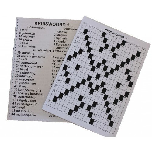 Grootletter Kruiswoordpuzzelboek XL
