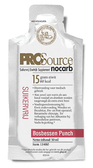 PROSource Nocarb - Bosbessen Punch - Sachet 30 ML
