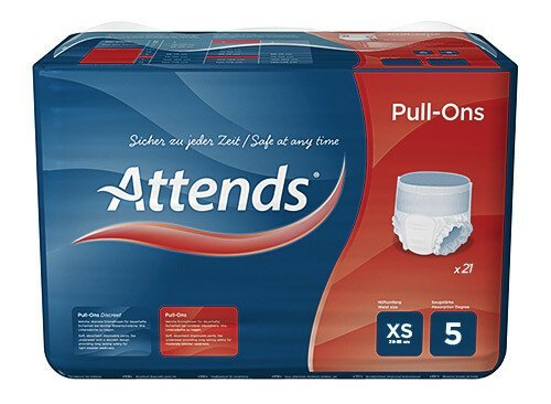 Attends Pull Ons Plus 5 Extra Small - 21 Stuks