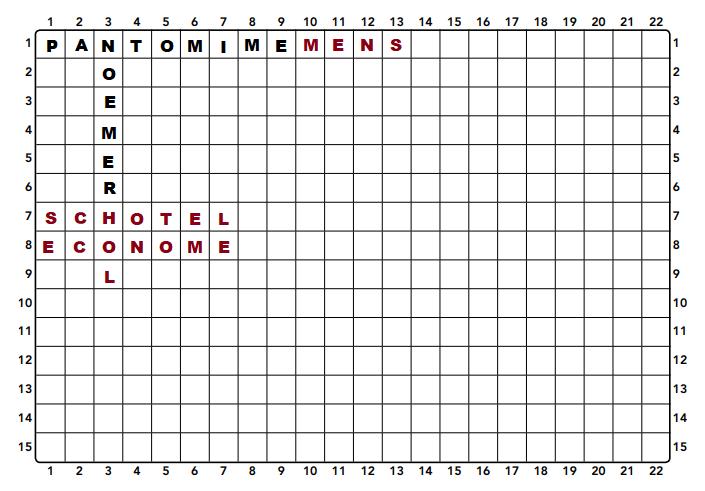 Doorloper puzzel voor ouderen voorbeeld
