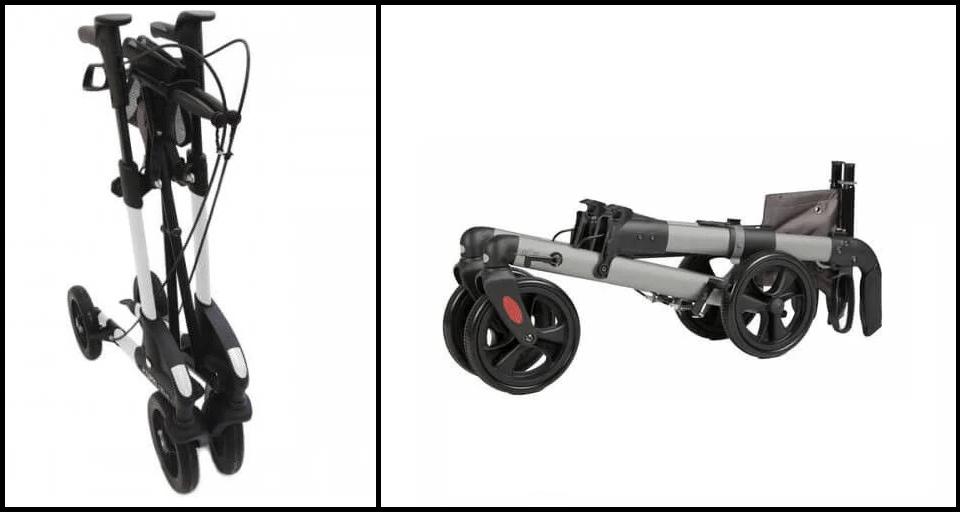 Enkel inklapbare lichtgewicht rollator vs Dubbel inklapbare rollator lichtgewicht