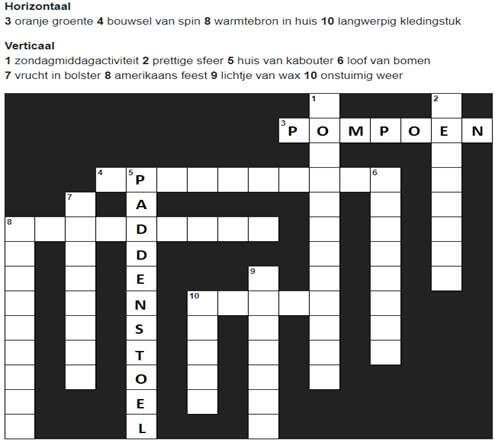Kruiswoordpuzzel voor ouderen voorbeeld