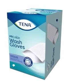 TENA Wet Wash gloves als huidverzorging bij incontinentie